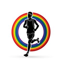 Running man sport man sprinter marathon vector