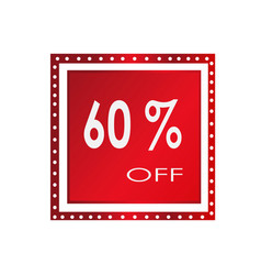 sale 60 off banner design over a white vector image vector image