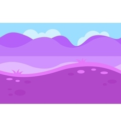 Seamless landscape of grassy road and pink purple vector