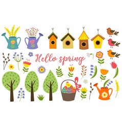 Set of isolated elements of spring vector