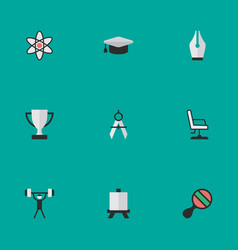 Set of simple education icons elements vector