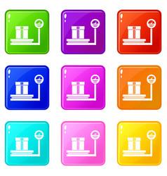 Shop scales set 9 vector