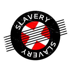 Slavery rubber stamp vector
