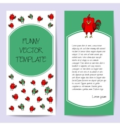 Stock cards template for children s birthday party vector image vector image