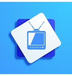 televisor vector image