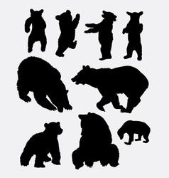 Bear wild animal silhouette vector image