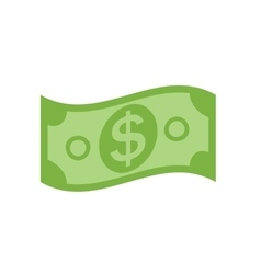 Us dollar stack paper banknotes icon sign vector
