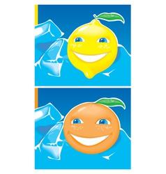 Lemon and orange vector image