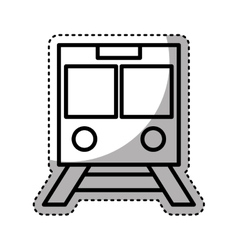 Subway transport isolated icon vector