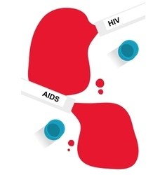 Hiv and aids written in blood and test tubes vector