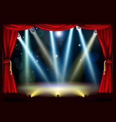 Spotlight theatre stage vector