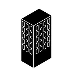 Server tower isometric icon vector