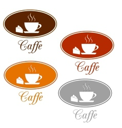 Caffee set design vector