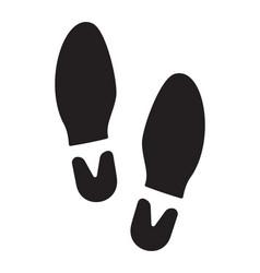 footprint vector image