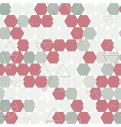 Background of hexagon and triangle vector
