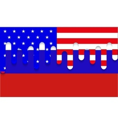 Modern usa and russia flag background vector