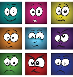 Emotions coloured vector