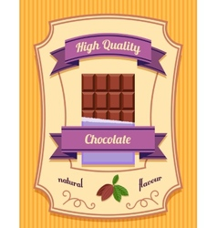 Chocolate bar poster vector