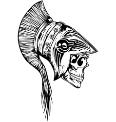 Skull in helmet legionary vector