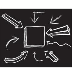 Chalk arrows hand drawn vector