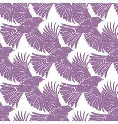 Purple bird silhouettes diagonal seamless vector