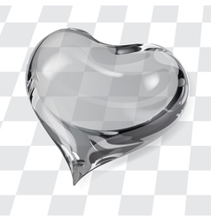 Big transparent heart vector image