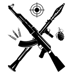 The coat of arms from a gun vector