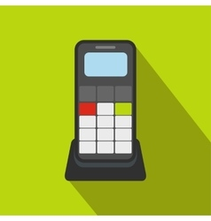 Wireless phone flat icon vector image