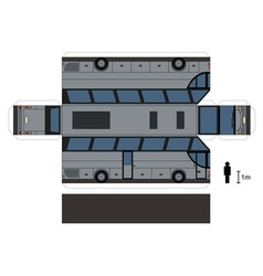 Paper model of a big bus vector