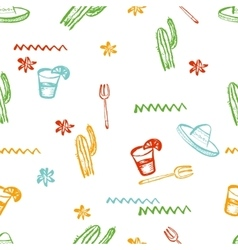 Seamless mexican pattern mexican tequila vector