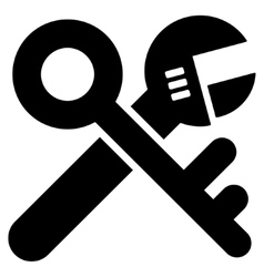Security settings flat icon vector