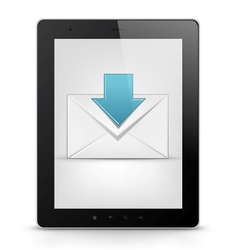 Tablet pc and email vector