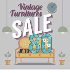 Furniture final sale up to 80 percent vector