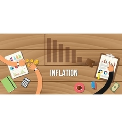 Inflation in finance vector