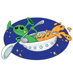 alien in space vector image vector image