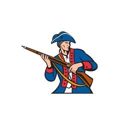 American patriot militia musket retro vector