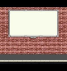 billboard blank vector image vector image