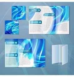 Blue brochure template vector