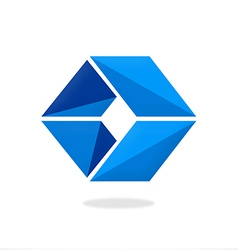 box cube triangle logo vector image