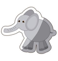 color elephant icon stock vector image vector image