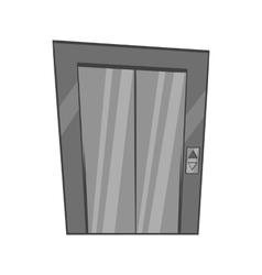 Door of elevator icon black monochrome style vector