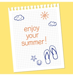 Enjoy your summer vector image vector image