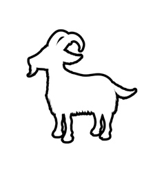 Goat animal farm pet character icon vector