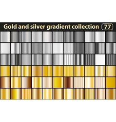 Gold and silver gradient collection vector