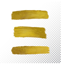 gold paint smear stroke stain vector image vector image