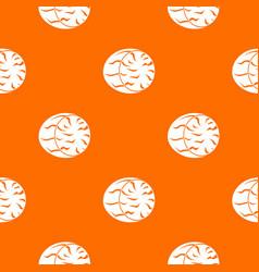 half of nutmeg pattern seamless vector image vector image