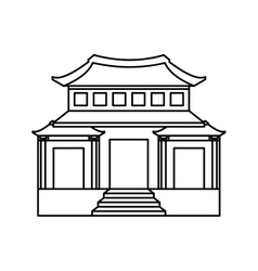 japanese building isolated icon vector image