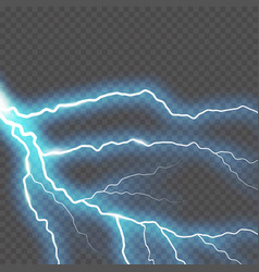 lightning and thunder bolt or electric glow and vector image