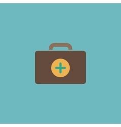 Medical box modern flat icon vector image vector image
