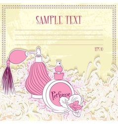 Message card with perfume vector